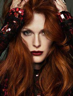 Inspiração: cabelo ruivo escuro