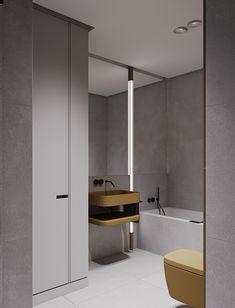 Project with modular shelves on Behance Bathroom Design Small, Bathroom Interior Design, Modern Bathroom, Bathroom Designs, Interior Ideas, Modular Shelving, Bathroom Toilets, Bathrooms, Apartment Projects