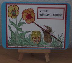das war eine Karte für das Frühlings Wichteln . In  Bastelforum von VBS. Frame, Painting, Home Decor, Secret Santa, Crafts, Cards, Homemade Home Decor, Painting Art, A Frame