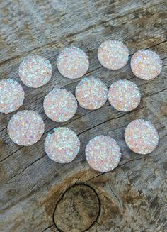 $1.65 Check out this item in my Etsy shop https://www.etsy.com/listing/254527486/12mm-pale-pink-ab-faux-druzy-cabochons