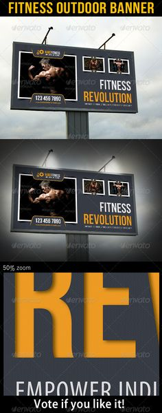 Fitness Outdoor Billboard Banner Template PSD. Download here: http://graphicriver.net/item/fitness-outdoor-banner-10/6858599?s_rank=246&ref=yinkira