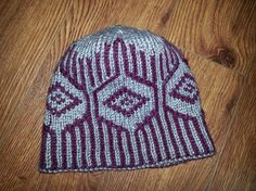 Double Knit Diamond Hat-Pattern for sale on www.marysknittingstuff.com