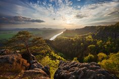 Saxon Switzerland, at the border between Germany and Czech Republic. Photo by Martin Krak
