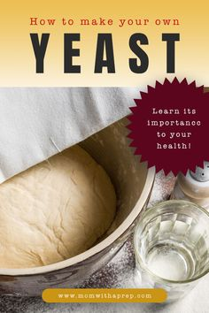 If you're trying to incorporate a natural, health-conscious diet into your life, then you may want to learn how to make your own yeast tasty and healthy. Bread Machine Recipes, Bread Recipes, Cooking Recipes, No Yeast Bread, Bread Baking, How To Make Bread, Food To Make, Making Bread Without Yeast, Croissants