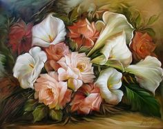 Douglas Frasquetti. Flower painting. Discussion on LiveInternet - Russian Service Online Diaries