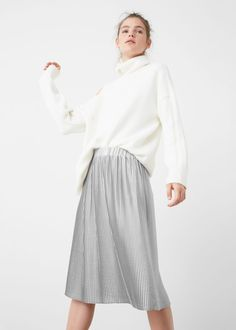 Pleated midi skirt - Skirts for Woman | MANGO USA