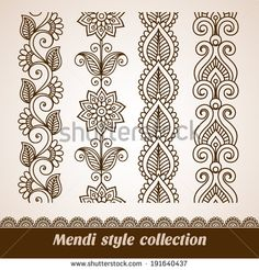 Stock Images similar to ID 97491749 - ornamental flowers. vector set...