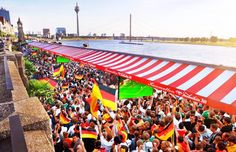 Public Viewing in Düsseldorf