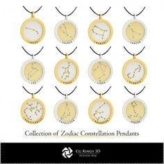 CAD Collection of Zodiac Constellation Pendants Cad Services, 3d Cad Models, Zodiac Constellations, Jewelry Collection, Collections, Pendants, Zodiac Signs, Hang Tags, Pendant