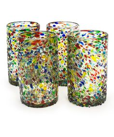 Look what I found on #zulily! Confetti Recycled Pint Glass - Set of Four by Bambeco #zulilyfinds