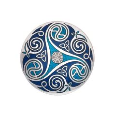 Amazon.com: Handmade Fine Glass Enamelled Celtic Triskele Blue Brooch: Jewelry