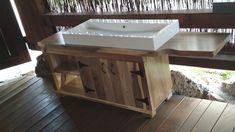 Orechová skrinka do kupelne Bench, Storage, Table, Furniture, Home Decor, Antigua Guatemala, Purse Storage, Decoration Home, Room Decor