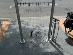 Southbank Bicycle Repair Stations. Placed just off the road for public use.