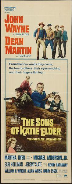 "The Sons of Katie Elder (Paramount, 1965). Insert (14"" X 36"").  Western"