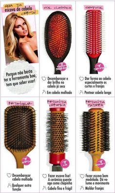 Guia da escova de cabelo certa .. ♡