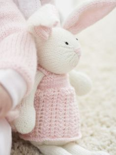 Zoe Bunny | Yarn | Free Knitting Patterns | Crochet Patterns | Yarnspirations. So sweet! Love bunnies <3