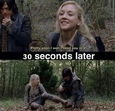 Hahaha for real! Beth Greene. daryl Dixon. TwD. The Walking dead. emily Kinney. Norman Reedus