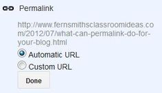 Teaching Blog Addict: Fern Smith's What Great Things Can Permalink Do For Your Blog?