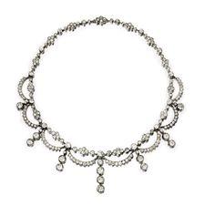An Antique Diamond Necklace, circa 1870. Via FD Gallery, www.fd-inspired.com