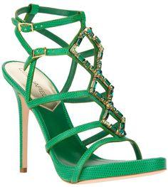 DSquared2 Embellished Lizard-Skin Effect Sandals,