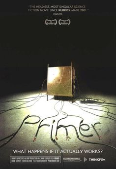 Guys from the movie Primer. Excellent low budget movie about the implications of time travel. Their budget was only $7000. A pretty awesome movie for such a low budget. Well worth seeing.