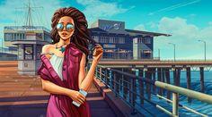 Santa Monica #Zhilin_Art
