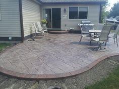 Landscape ideas concrete stamped patio flooring contemporary patio ...