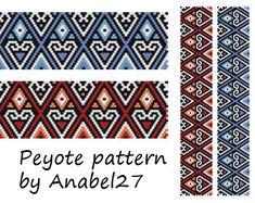 Peyote Pattern #21 - bead  patterns- peyote bracelets
