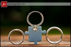 Fabulous photos of our friends Angela and Justin's wedding in May by Jason Angelini. We especially love this ring shot. Their theme was of course...Puzzle pieces, cuz they just FIT as a couple!  :)  Gorgeous wedding....Gorgeous couple!  <3 them both!