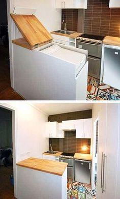 maquina de lavar embutida na bancada