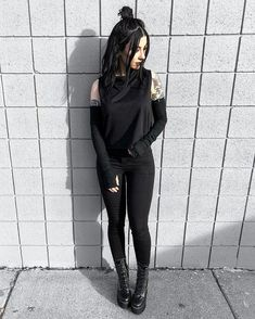 Goth Chic, Punk Outfits, Happy Colors, Arm Warmers, Cleanse, Leather Pants, Black Jeans, Take That, Style Inspiration