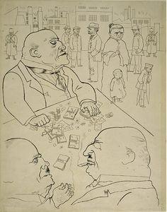 George Grosz: Die Besitzkröten, 1920.