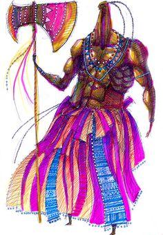 """Xangô é o orixá da justiça, do trovão, do fogo e dos raios. Sua história conta que foi um rei violento e justiceiro. A música de Vinicius e Bande fazem uma adoração ao rei Xangô, uma prece ao amor e à dor, exaltando as cores do orixá. Escute a segunda canção do álbum, """"Canto de Xangô"""": https://www.youtube.com/watch?v=Od2kpFZjhAI. Imagem: ilustração de Xangô."""