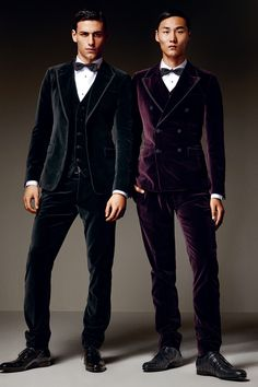 Trending: Velvet for Mens Evening wear. Dolce  Gabbana Fall/Winter 2014 Mens Look Book