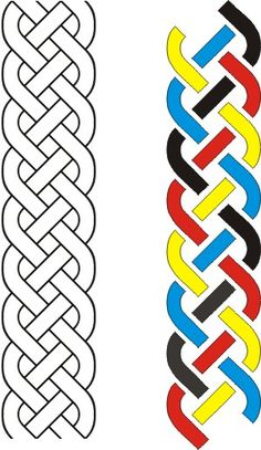"""by"""" open-ended knotted band: sixteen curves, eight bars; four colors. Leather Tooling Patterns, Leather Pattern, Wood Carving Patterns, Carving Designs, Celtic Symbols, Celtic Art, Celtic Quilt, Muster Tattoos, Celtic Knot Designs"""
