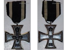 Germany WW1 Medal Iron Cross 2Cl EK2 Maker KO  Decoration Military Merit 1914 1918 Kaiser Prussia Award. $97.00, via Etsy.