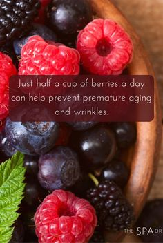 Adding #berries to your daily diet is easy as (blueberry) pie! Throw a handful in your breakfast smoothie, add to muffins and other baked goods, or toss on top of your salad with some lean protein or fish for a complete meal your skin will love.