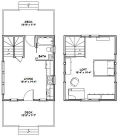 16x20 Tiny House -- #16X20H4C -- 574 sq ft - Excellent Floor Plans