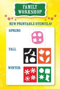 Tenderflake Family Workshop: Printable Stencils