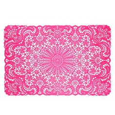 Pink Vinyl Placemat