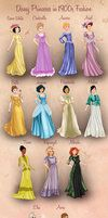 Disney Princesses in 1900s Fashion by BasakTinli