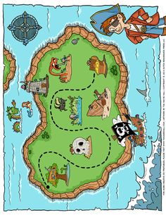 Maps Archives - Page 2 of 2 - Tim van de Vall Pirate Treasure Maps, Pirate Maps, Dice Template, Shape Templates, Writing Paper, Classroom Themes, Board Games, Christmas Holidays, Coloring Pages