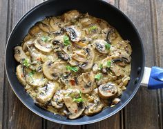 Mushroom In Garlic Cream Sauce. Mushroom In Garlic Cream Sauce is an easy to make creamy flavorful and extra delicious dish ready in less than 25 minutes. Mushroom Cream Sauces, Mushroom Recipes, Vegetable Recipes, Vegetarian Recipes, Cooking Recipes, Sauce Recipes, Veggie Meals, Appetizer Recipes, Dinner Recipes