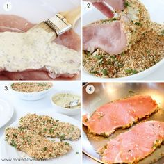 Stuffing crusted turkey cutlets...sooo easy and we all really enjoyed them!