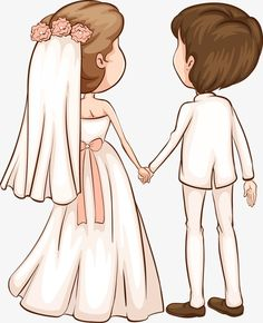 Your big day is just about the most significant days of your lifetime. You have probably been daydreaming and thinking about your own wedding event from childhood, and now you have found the partner you've always dreamed about and it's all coming real! Bride And Groom Cartoon, Wedding Couple Cartoon, Cute Couple Cartoon, Cute Love Cartoons, Girl Cartoon, Wedding Illustration, Couple Illustration, Wedding Drawing, Cadeau Couple