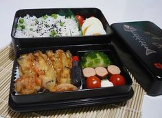 Bento Lunch Blog: Bento #10 Gemüse-Tempura mit Erbsenreis