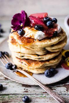 Blueberry Almond Pancakes | Half Baked Harvest