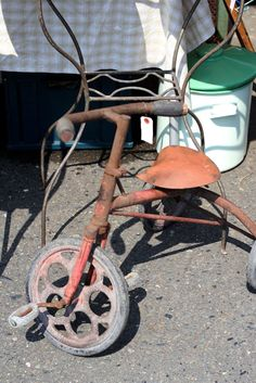 tricycle, vintage, (gambari marché)