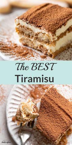 Cold Desserts, Fancy Desserts, Italian Desserts, Just Desserts, Delicious Desserts, Dessert Recipes, Italian Tiramisu, Cake Recipes, Best Tiramisu Recipe