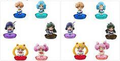Puchi Chara! Sailor Moon! vol.2 - Atarashii nakama to henshin shiyo! 1 BOX SET 6 figuras Precio en Todoke!: 3150 yenes Existen 12 figuras disponibles como podeis ver en las dos fotos, y la caja dispone de 6 figuras. PD: Son cajas sorpresa con lo cual hay posibilidad de que os salga alguna repetida. RESERVA EL TUYO YA!: http://todoke.jp.net/order.html